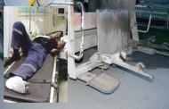 Ayağı  çöp kamyonunun mekanizmasına sıkışan işçi yaralandı