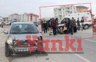 Kapaklı'da Otomobil Motosiklete Çarptı: 1 Yaralı