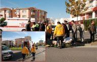 Elektrikli Araçtan Düşen Yaşlı Adam Yaralandı