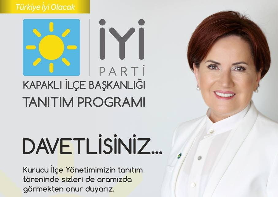 Kapaklı İYİ Parti Kurucu Yönetimini Tanıtacak