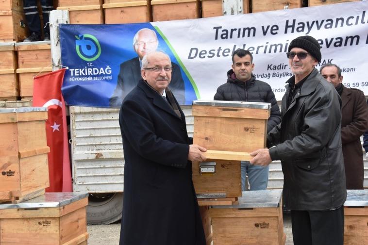 Tekirdağ Büyükşehir Belediyesinden Bal Üreticilerine Destek