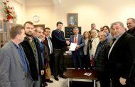 Başkan Çetin Mazbatasını Aldı
